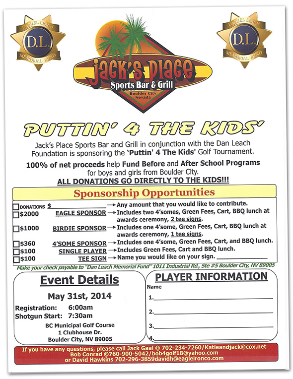 Puttin' For The Kids Golf Tournament 2014 in Boulder City, NV