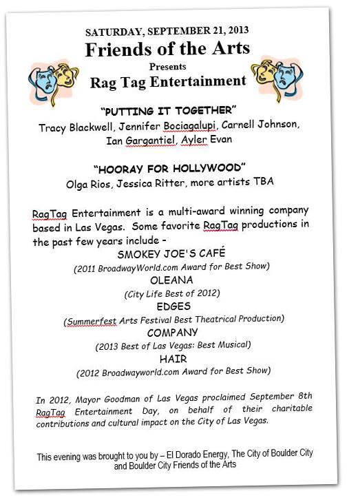 Rag Time Entertainment Concert in Boulder City, Nevada