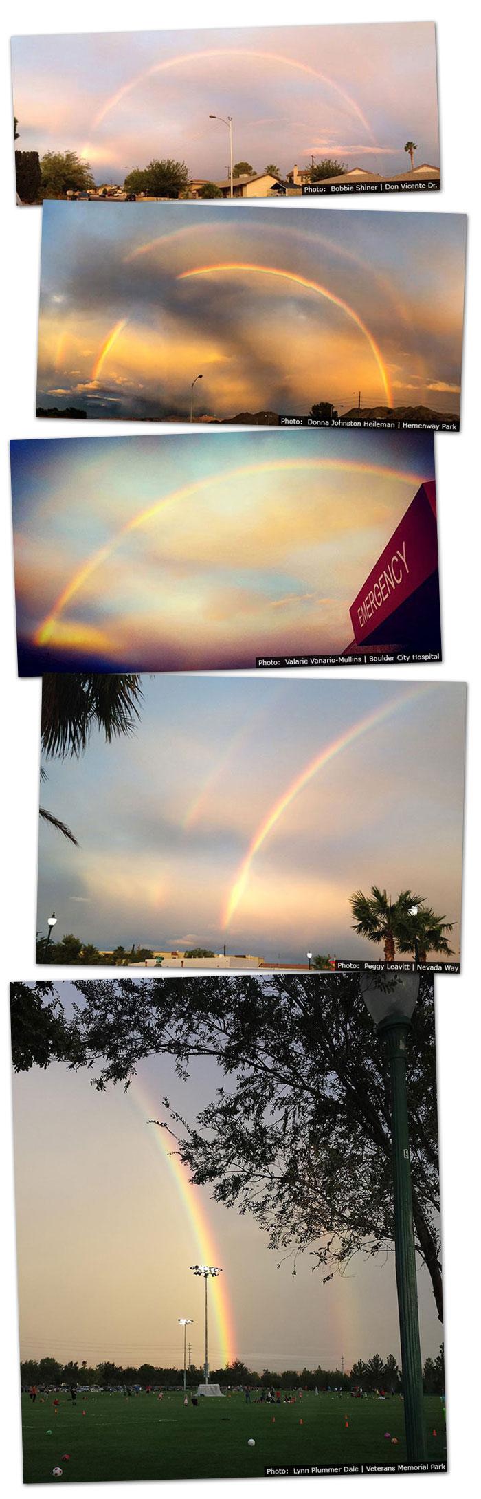 Rainbows in Boulder City, Nevada