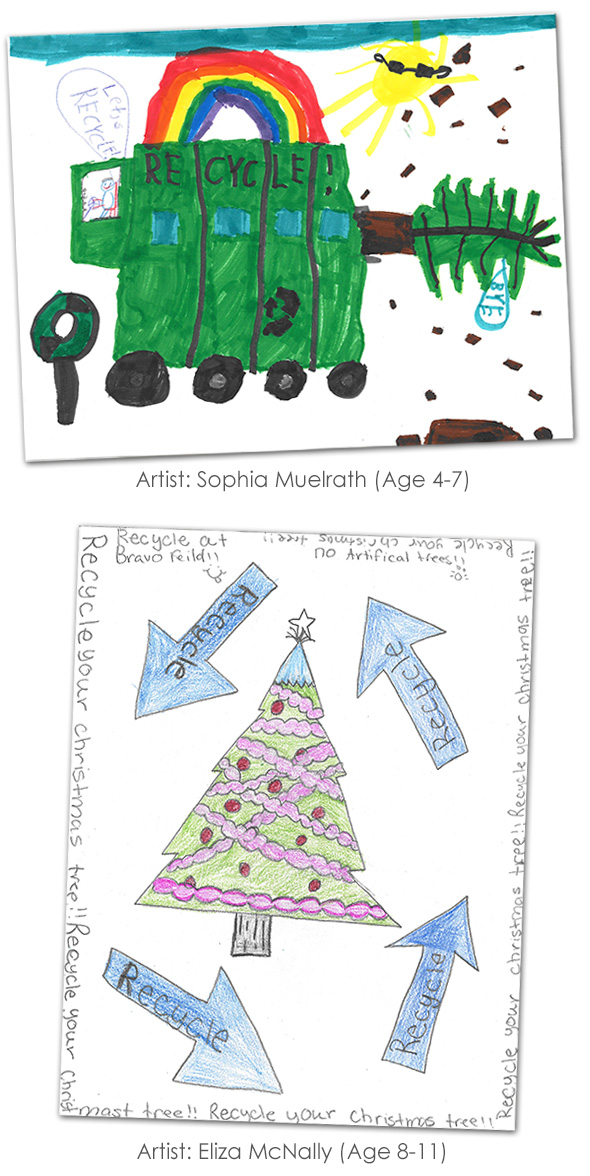 Recycle Tree Poster Winners in Boulder City, Nevada
