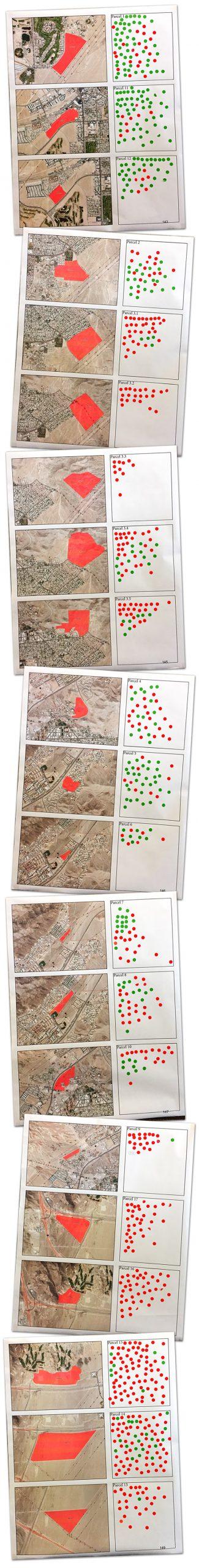 Red Dot Green Dot Maps on Land Management Plan in Boulder City, Nevada