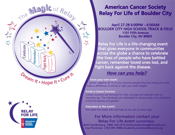 Relay For Life 2012 in Boulder City, NV