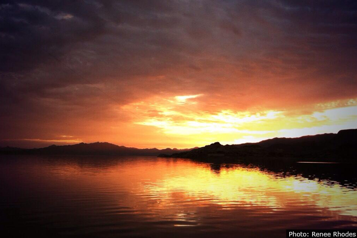 Renee Rhodes Sunset Over Lake Near Boulder City, Nevada