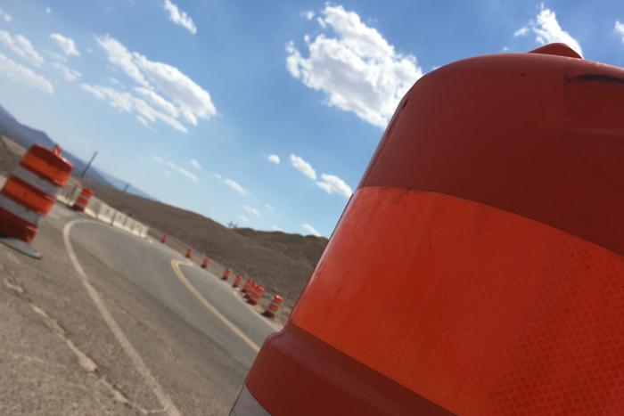 Lane Shift on Road to Boulder City, NV