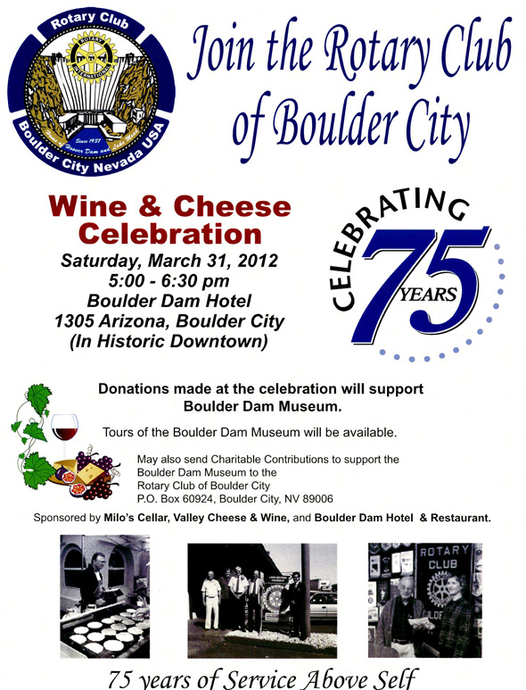 Rotary 75 Years Flyer