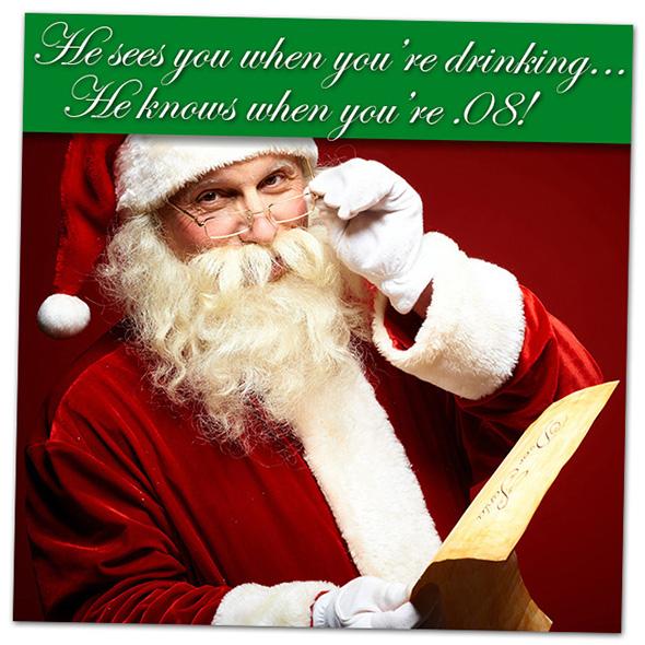 Santa Says No Drunk Driving in Boulder City, Nevada