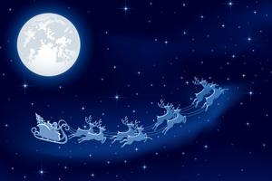 Santa Flying Over Boulder City, NV