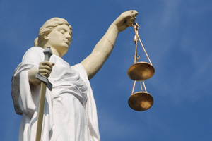 Scales Of Justice And Lady Liberty
