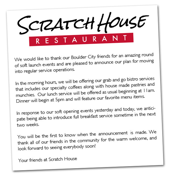 Scratch House Letter in Boulder City, Nevada