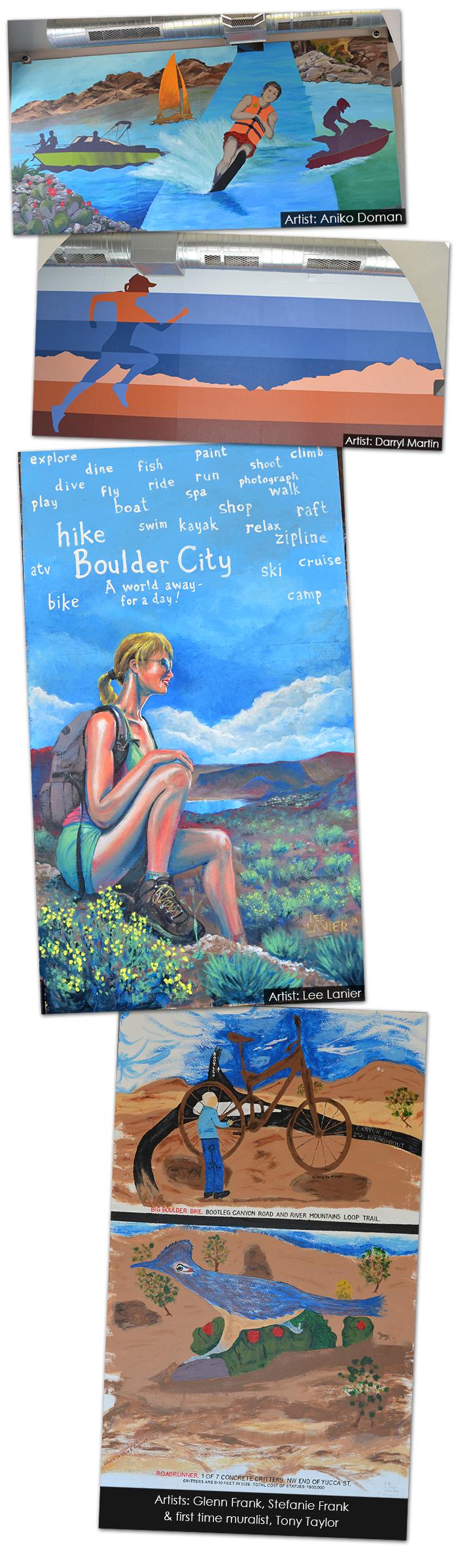 Scratch House Murals in Boulder City, Nevada