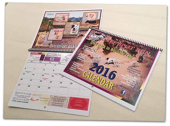 See Spot Run 2016 Calendar in Boulder City, Nevada