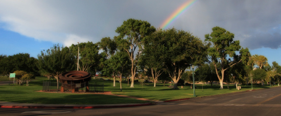 Rainbow in Boulder City, Nevada