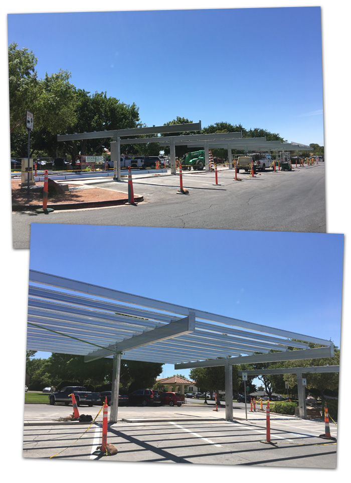 Solar Powered Cover Parking in Boulder City, Nevada