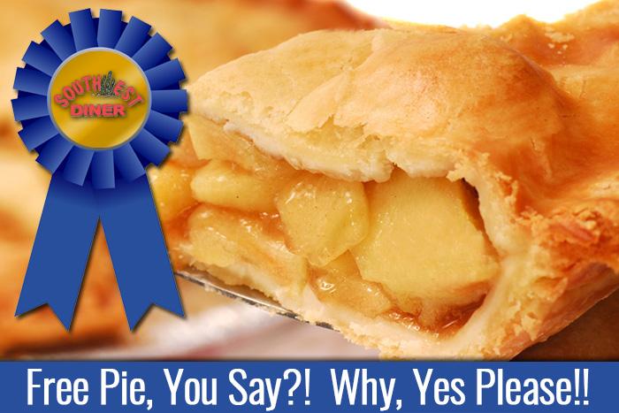 Southwest Diner Free Pie Giveaway in Boulder City, Nevada
