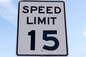 Speed Limit 15 MPH in Boulder City, Nevada