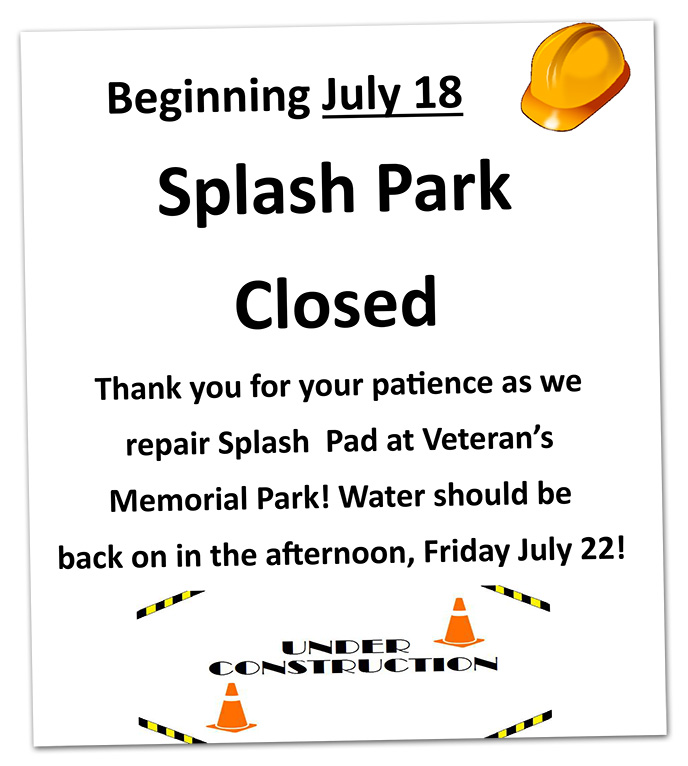 Splash Park in Boulder City Closed Flyer