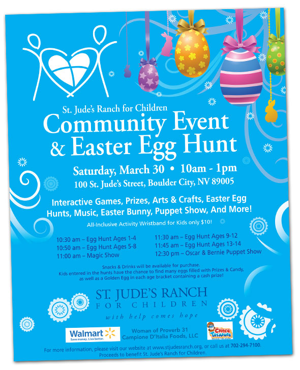 Easter Egg Hunt at St. Jude's Ranch for Children in Boulder City, Nevada
