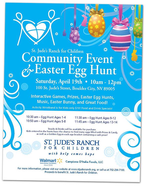 St. Jude's Ranch Easter Egg Hunt2014 in Boulder City, Nevada
