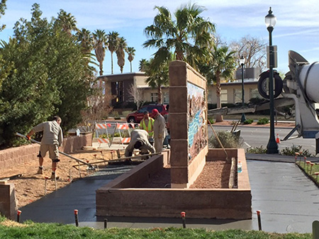 Sundial Park Sidewalk in Boulder City, Nevada