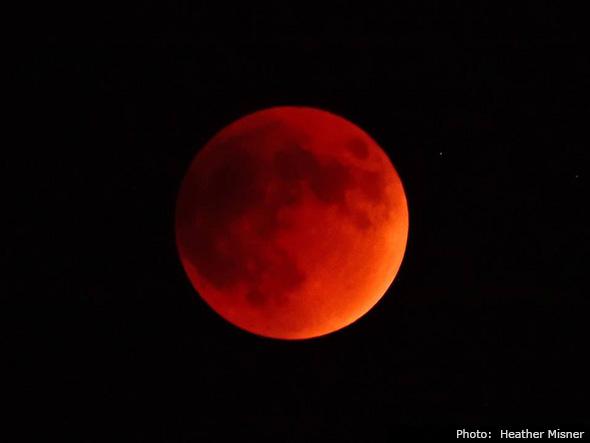 Super Harvest Blood Moon in Boulder City, Nevada