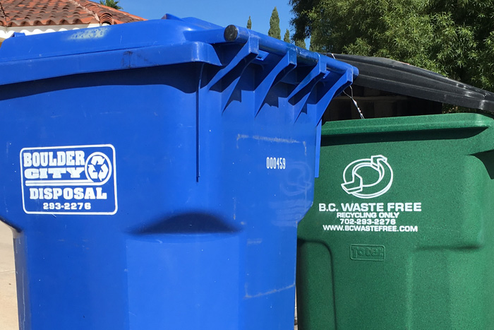 Trash and Recycle Bins in Boulder City, Nevada