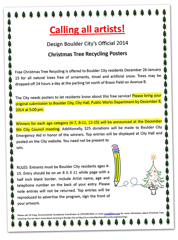 Christmas Tree Recycling Poster Designer Wanted in Boulder City, NV