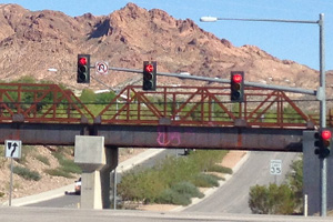 Veterans Hwy Intersection in Boulder City, Nevada