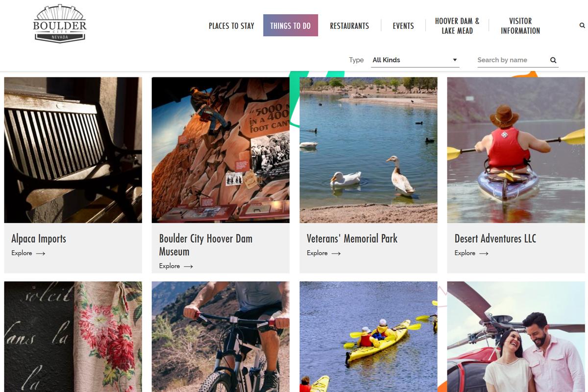 Visit Boulder City Dot Com Website
