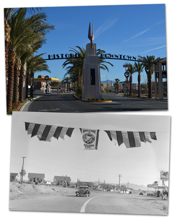 Welcome Archway Flashback in Boulder City, Nevada