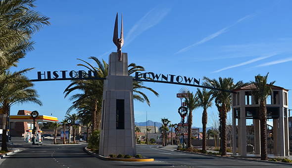 Welcome Archway in Boulder City, Nevada