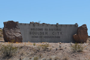 Welcome Sign to Boulder City, Nevada