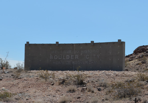 Welcome To Boulder City, NV Gateway Sign