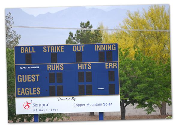 Whalen Field Scoreboard in Boulder City, Nevada