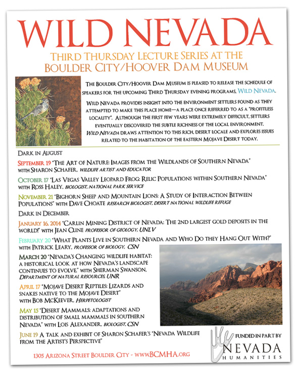 Wild Nevada Lecture Series in Boulder City, Nevada