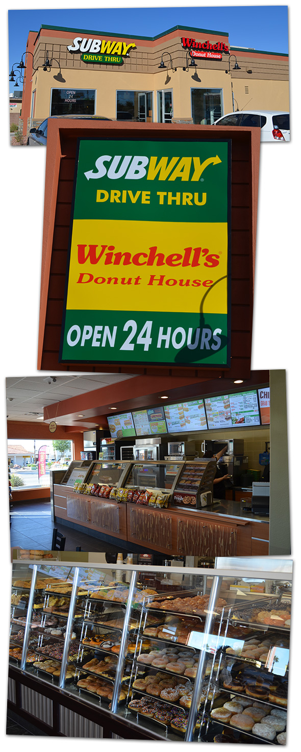 Winchell's Donuts and Subway in Boulder City, Nevada