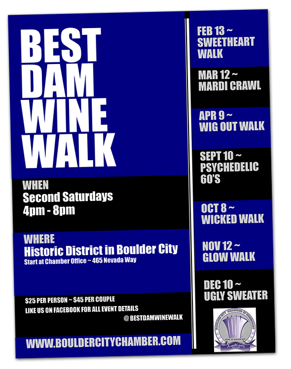 Best Dam Wine Walk 2016 in Boulder City, Nevada