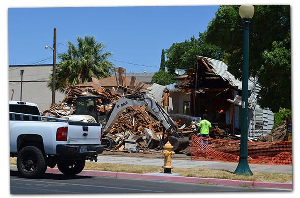 Wyoming Street House Demolition in Boulder City