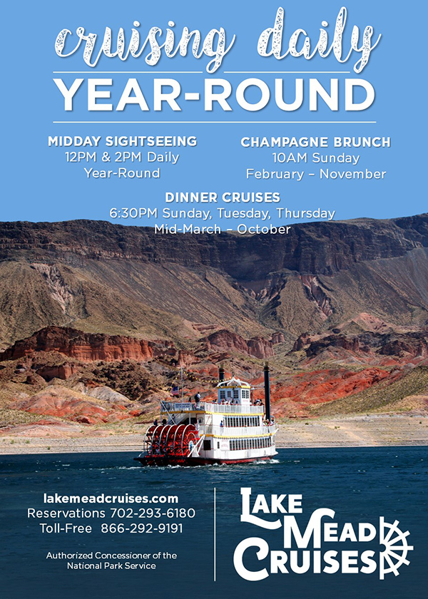 Year Round Crusing Open at Lake Mead CruisesPoster