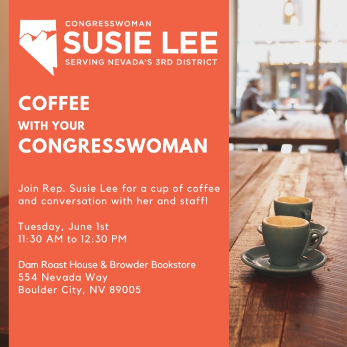 Coffee with Your Congresswoman Dam Roast House Boulder City, NV