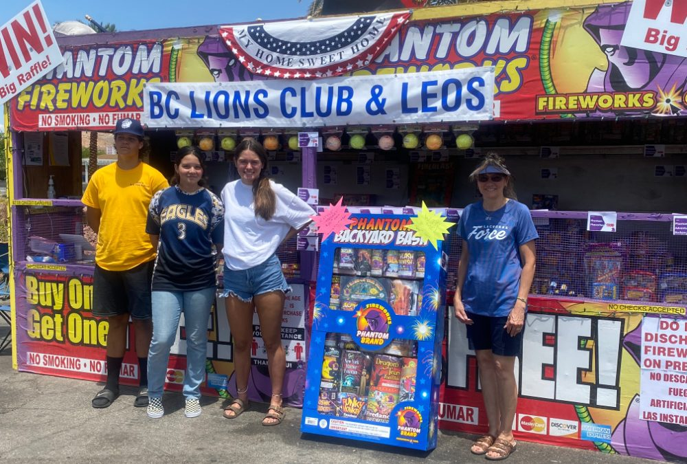 Fireworks Booth to Benefit Lions Club and Leos