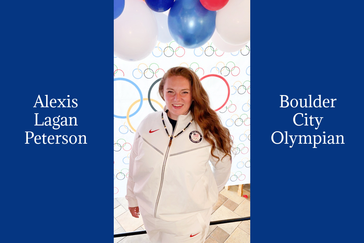 Alexis Lagan Peterson, Olympian, at her Welcome Home party on August 14, 2021 in Boulder City