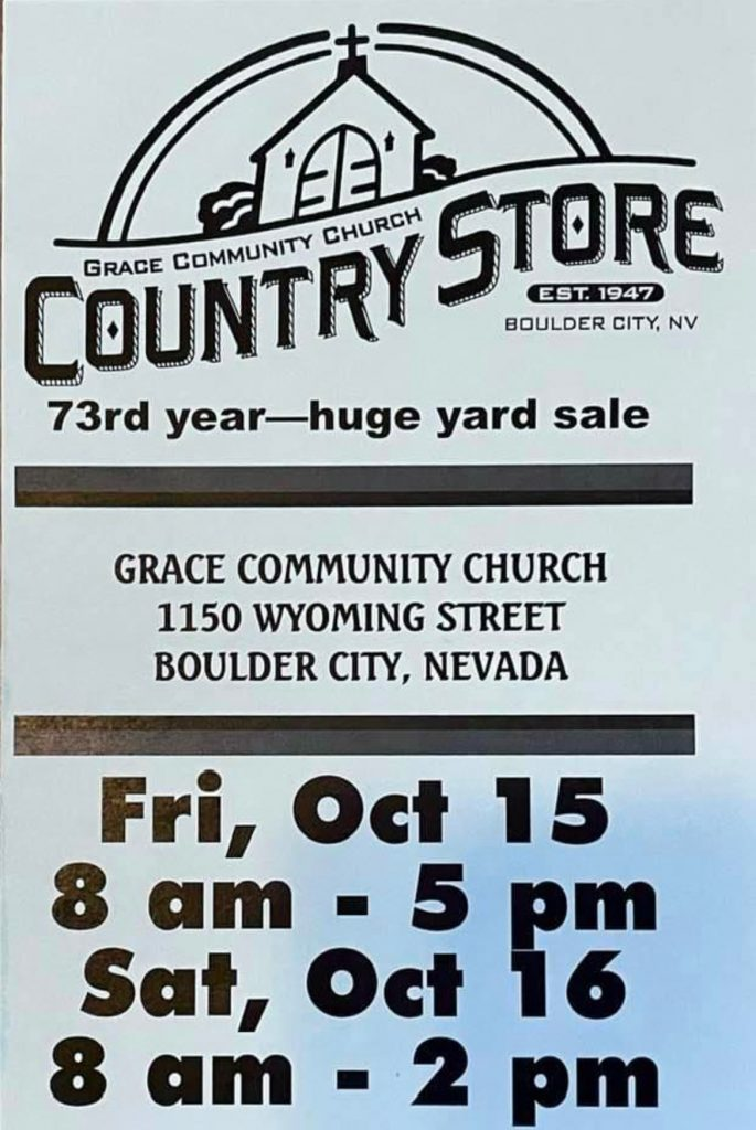 Country Store Flyer 2021 Boulder City, Nevada