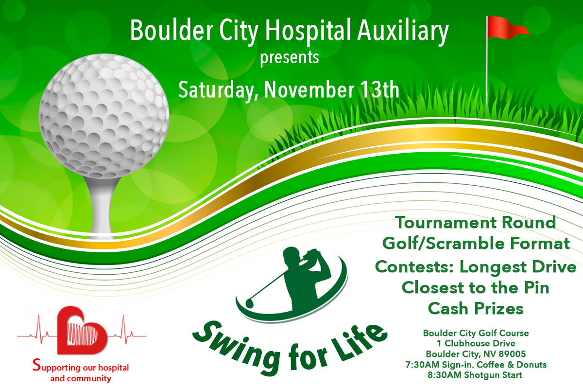 Swing For Life Event Ad 2021 Boulder City, Nevada